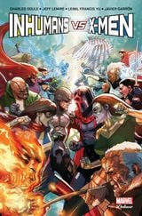 Couverture Inhumains Vs X-men