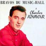 Pochette Bravos du music-hall à Charles Aznavour