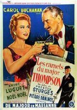 Affiche Les Carnets du major Thompson