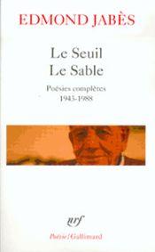 Couverture Le Seuil - Le Sable