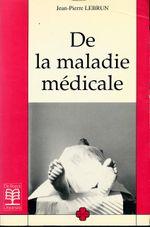Couverture De la maladie médicale