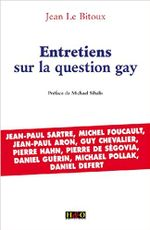 Couverture Entretiens sur la question gay