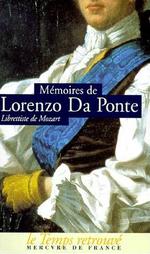 Couverture Mémoires de Lorenzo Da Ponte