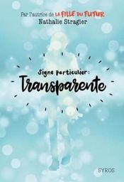 Couverture Signe particulier : Transparente