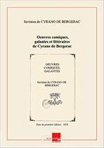 Couverture Oeuvres comiques, galantes et littéraires