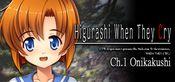 Jaquette Higurashi When They Cry Hou - Ch.1 Onikakushi
