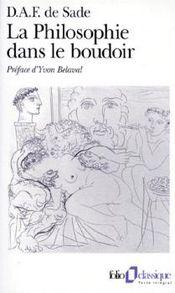 Couverture La Philosophie dans le boudoir
