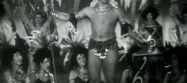 Illustration Luis Mariano en tutu de Tarzan