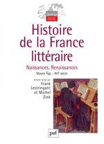 Couverture Histoire de la France littéraire