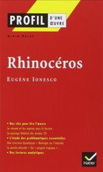 Couverture Profil d'une oeuvre - Rhinocéros