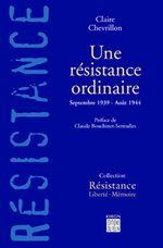 Couverture Une résistance ordinaire