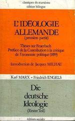 Couverture L'Idéologie allemande - Première partie : Feuerbach