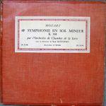 Pochette 40ème symphonie en sol mineur K.550