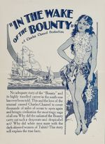 Affiche In the Wake of the Bounty