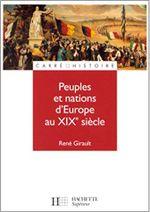 Couverture Peuples et nations d'Europe au XIXe