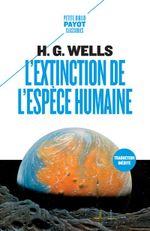 Couverture L'Extinction de l'espèce humaine