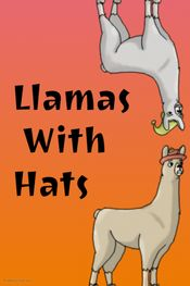 Affiche Llamas with Hats