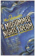 Affiche Le Songe d'une nuit d'été