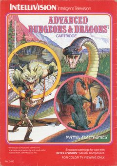Jaquette Advanced Dungeons & Dragons : Cloudy Mountain