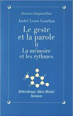 Couverture La Mémoire et les Rythmes - Le Geste et la Parole, tome 2