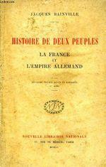 Couverture Histoire de deux peuples (édition 1915)