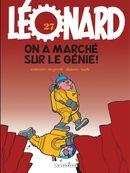 Couverture On a marché sur le génie - Léonard, tome 27