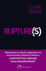 Couverture Rupture(s)