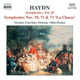 """Pochette Symphonies, Vol. 25: Nos. 70, 71 & 73 """"La Chasse"""""""