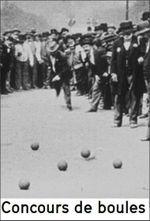 Affiche Concours de boules