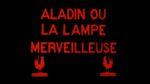Affiche Aladin ou la Lampe merveilleuse