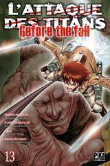 Couverture L'Attaque des Titans : Before the Fall, tome 13