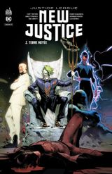 Couverture Terre Noyée - Justice League : New Justice, tome 2