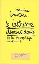 Couverture Le lettrisme devant Dada