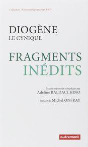 Couverture Diogène le cynique : Fragments inédits