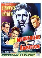 Affiche Meurtrière ambition