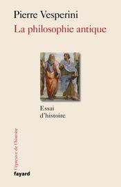 Couverture La Philosophie antique
