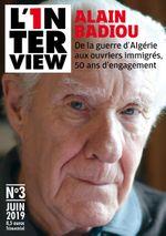 Couverture L'1nterview n°3 - Alain Badiou