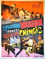 Affiche Dynamique Dragon contre boxeurs chinois