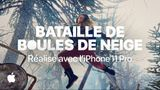 Affiche Réalisé avec l'iPhone 11 Pro - Bataille de boules de neige