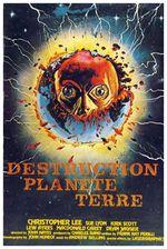 Affiche Destruction planète Terre