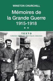 Couverture Mémoires de la grande guerre : 1915-1918