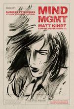Couverture Mind MGMT Rapport d'opérations 1/3 : Guerres psychiques et leurs influences invisibles