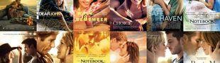 Cover Les films adaptés de  nicholas sparks