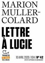 Couverture Lettre à Lucie