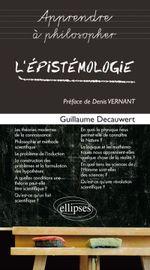 Couverture L'épistémologie