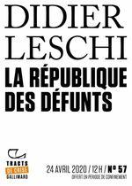 Couverture La République des défunts
