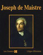 Couverture Joseph de Maistre