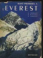 Couverture Avant-premières à l'Everest
