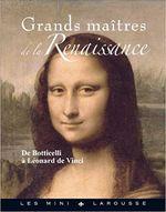 Couverture Grands maîtres de la Renaissance