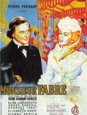 Affiche Monsieur Fabre